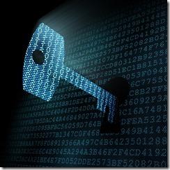 Digital key in pixeled keyhole