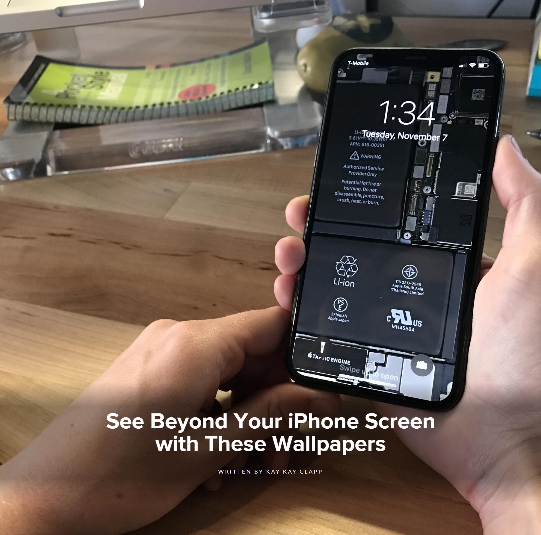 まるでスケルトン Iphone Xsの内部が見える壁紙 Iphoneteq
